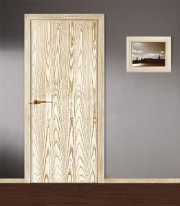Двери шпонированные Глухая гладкая от Мастер-Вуд