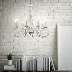 Освещение Люстра BRANDY SP8 BIANCO ANTICO от IDEAL-LUX