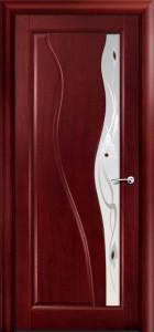 Двери шпонированные Ирен красное дерево от Milyana