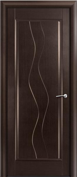 Двери шпонированные Веста (Волна) венге от Milyana