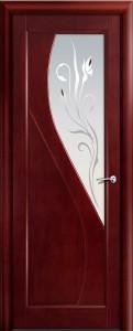 Двери шпонированные Яна красное дерево от Milyana