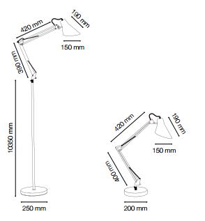 Освещение Настольная лампа SALLY TL1 CROMO от IDEAL-LUX