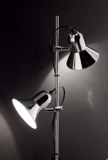 Освещение Торшер POLLY PT2 ARGENTO, NERO от IDEAL-LUX