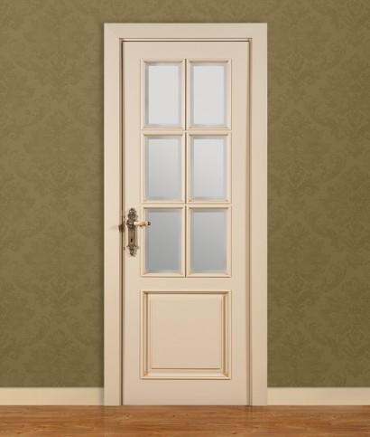 Двери шпонированные Классика «Vetro 6» от Мастер-Вуд