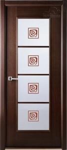 Двери шпонированные Модерн Люкс (остекленное) от Belwooddoors